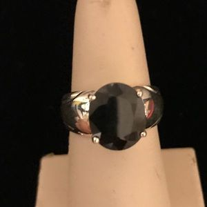 FREE Sterling Silver Black Onyz Ring